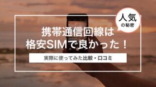 携帯通信回線は格安SIMで良かった!〜口コミと比較〜