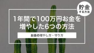 1年間で100万円お金を増やした6つの方法|お金の増やし方・守り方